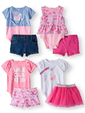 e0168bad72173 Product Image Garanimals Mix & Match Outfits Kid-Pack Gift Box, 8pc Set (Baby  Girls