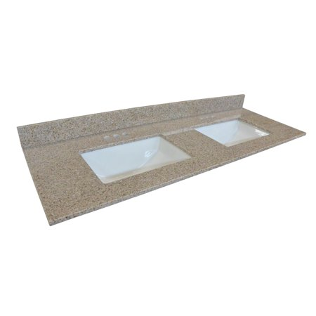 Granite Vanity (Design House 563247 Double Bowl Granite Vanity Top 61
