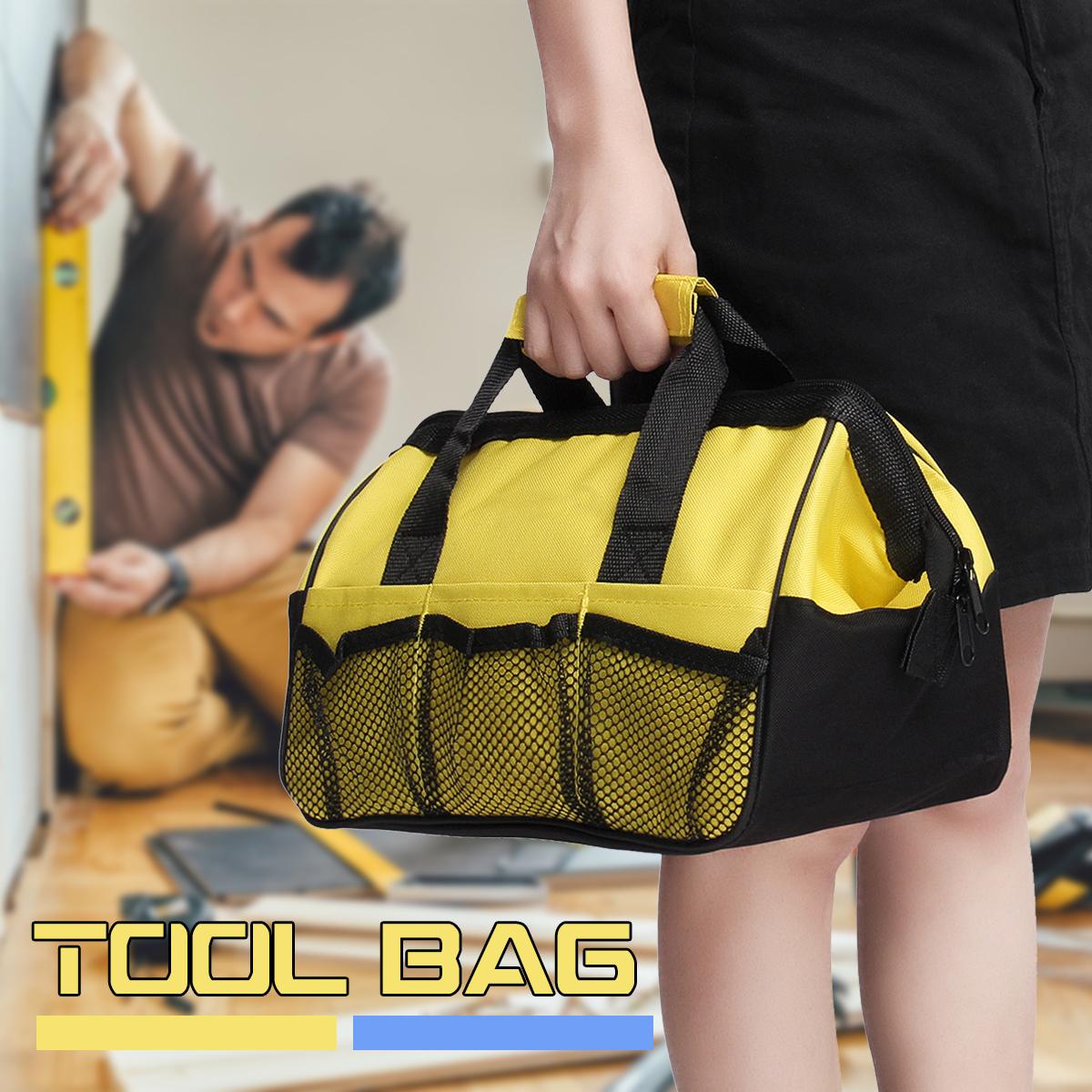12 Inch 31x18x22cm Portable Electrician Canvas Tool Bag Nylon Canvas Heavy Duty Tool Bag Contractor Storage Hardware Case