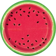 "Watermelon Summer Party Plates, 7"", Pack of 8"