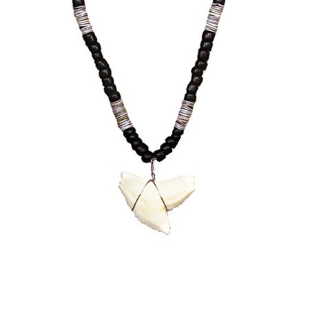 Resin Tiger Shark Tooth Fully Beaded Necklace