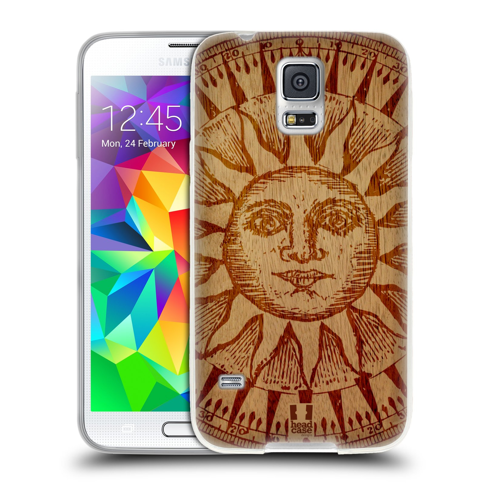HEAD CASE DESIGNS WOOD ART SOFT GEL CASE FOR SAMSUNG PHONES 1
