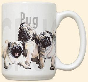 Pug Puppies Mug by Fiddler's Elbow - C109FE
