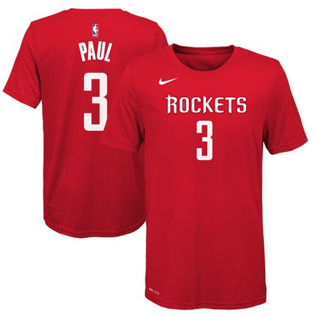 cheap for discount 24ce4 4e6eb Chris Paul Houston Rockets Nike Youth Name & Number T-Shirt - Red