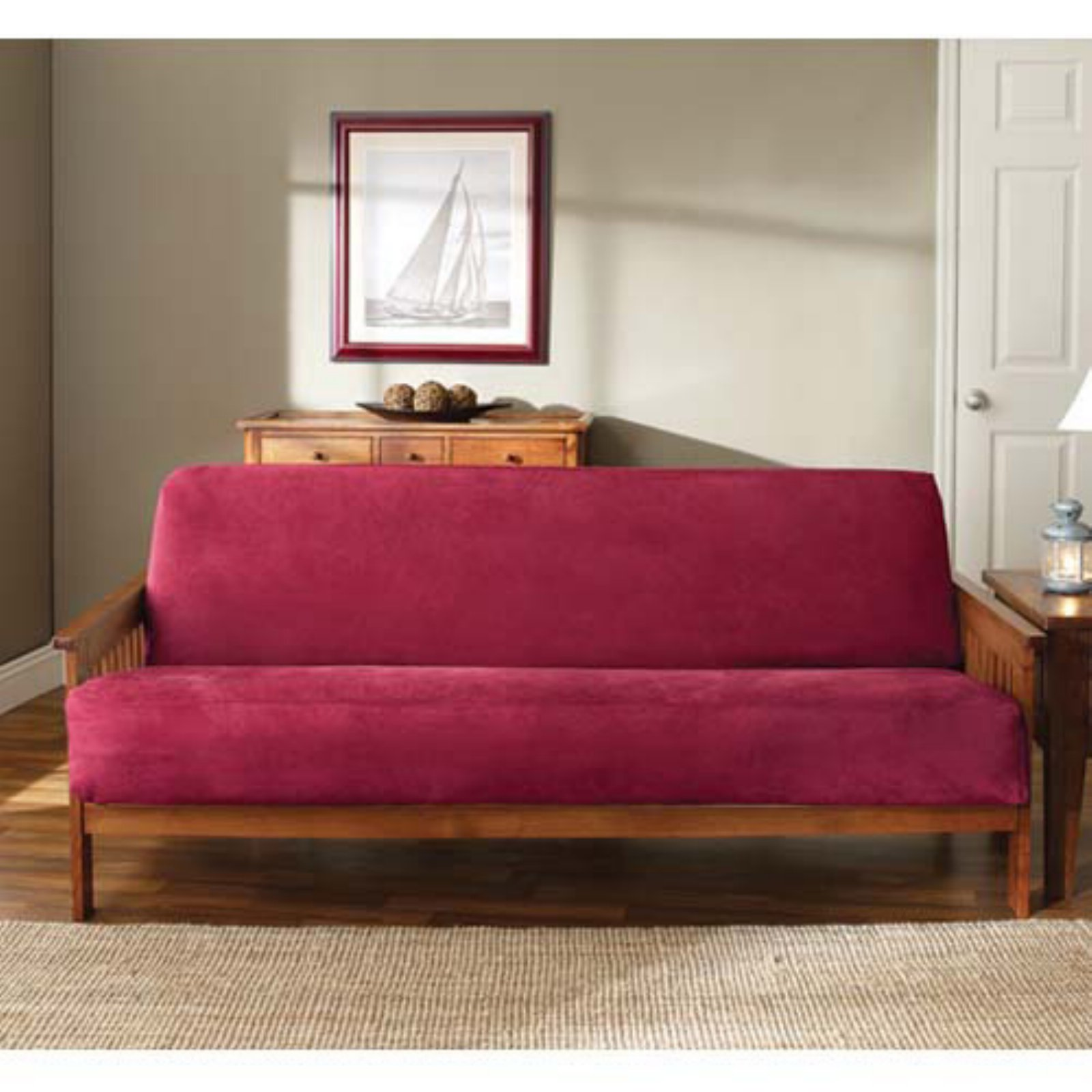Sure Fit Soft Suede Futon Slipcover Walmart