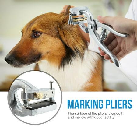 Knifun Aluminum Alloy Animal Marking Identification Tattoo Pliers Kit for Farm Animals and Livestock, Animal Marking Pliers, Marking - Farm Tattoos