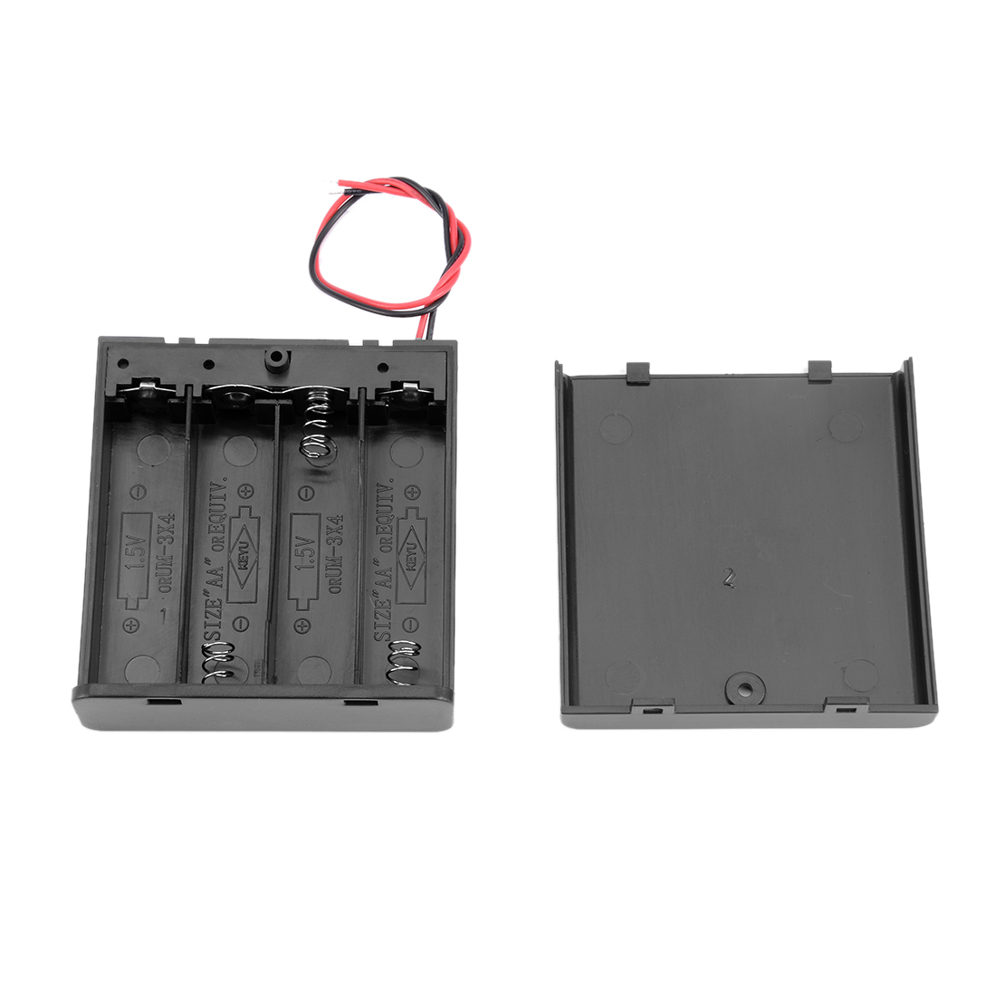Unique Bargains 10 Pcs 6V Battery Case Storage Box 4 x 1.5V AA Batteries ON/OFF Switch w Cover - image 2 of 5