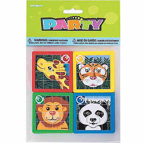 Unique Industries Animal Slide Puzzle Party Favors, 10 - Count