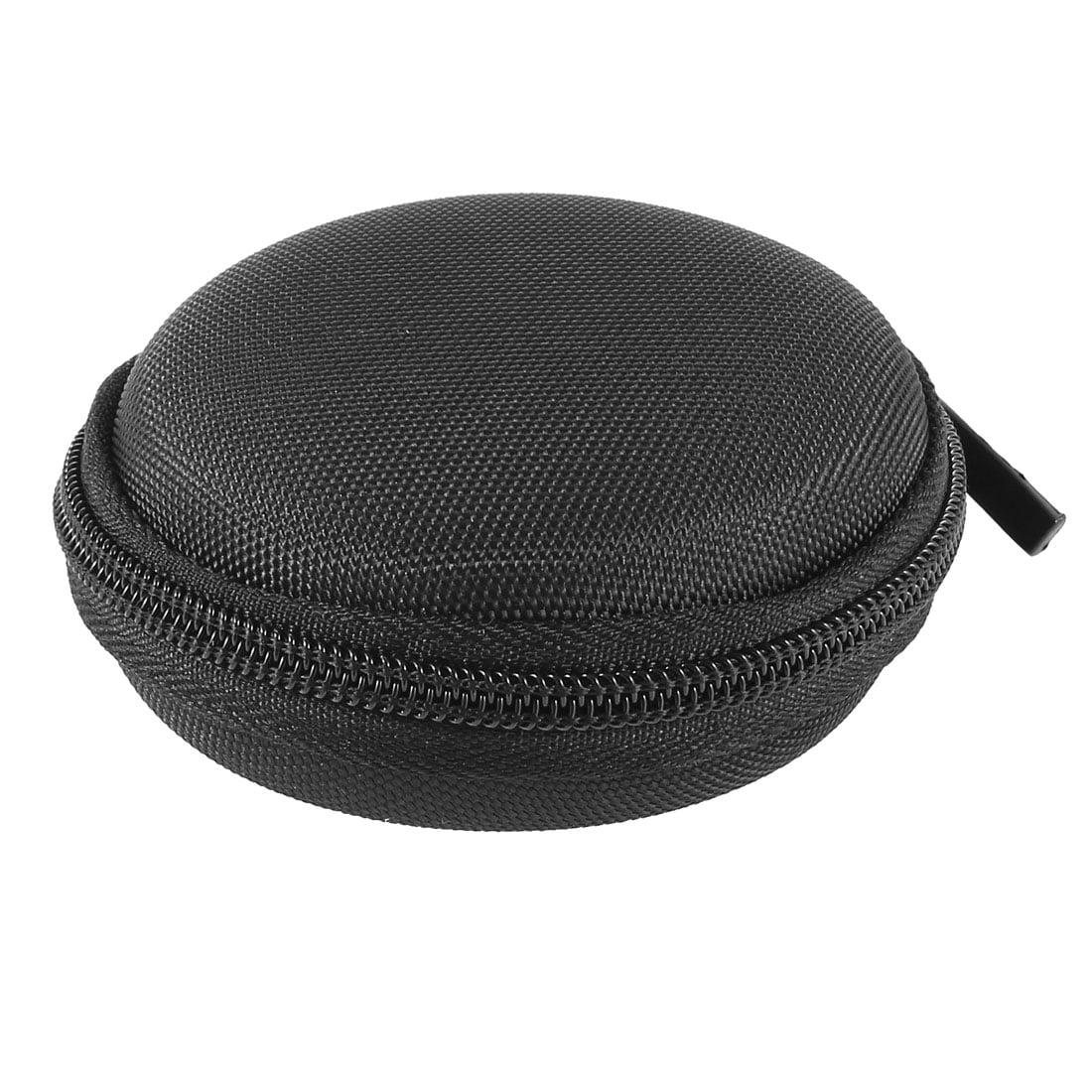 Unique Bargains Black Nylon Headset Headphone Earphone Zipper Case Pouch Bag Box