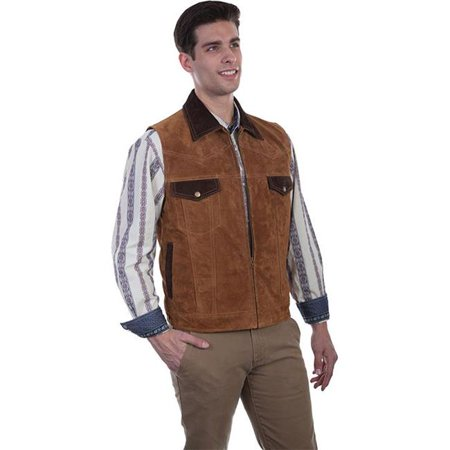 Scully 621-125-4X Suede Vest Western concealed Carry Pocket , Brown - 4X - image 1 of 1