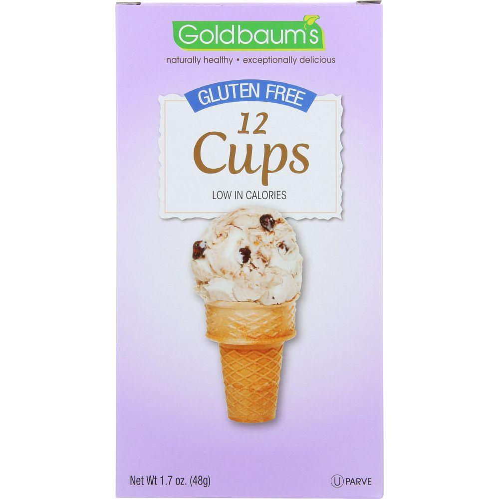 Goldbaums Gluten Free Cup Ice Cream Cone, 1.7 Oz (Pack Of 12)