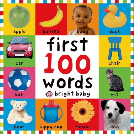 Bright Baby First 100 Words (Board Book) - 1st Birthday Board
