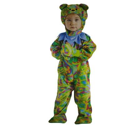 cute infant tie dye teddy bear dancing jumpsuit toddler sized halloween costume