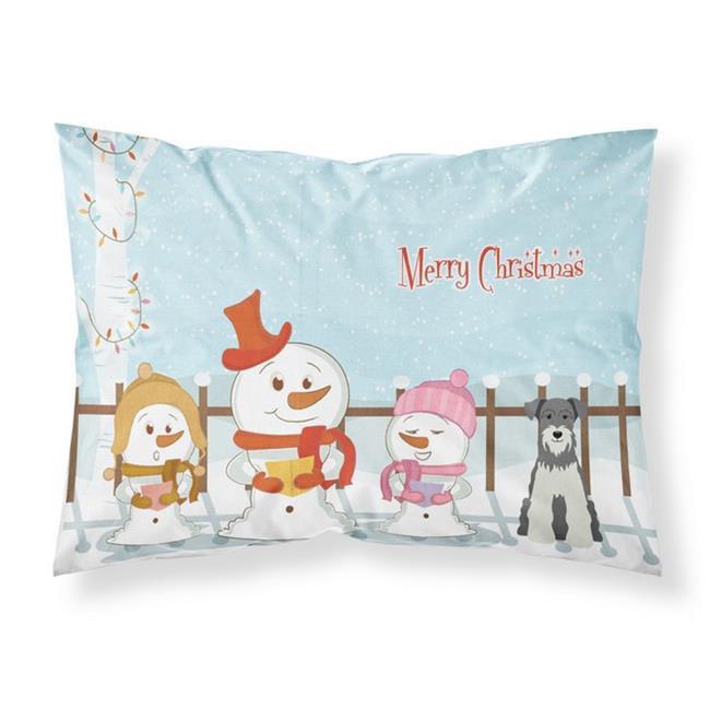 Carolines Treasures BB2385PILLOWCASE Merry Christmas Carolers Miniature Schanuzer Salt & Pepper Fabric Standard Pillowcase, 20.5 x 0.25 x 30 in. - image 1 de 1
