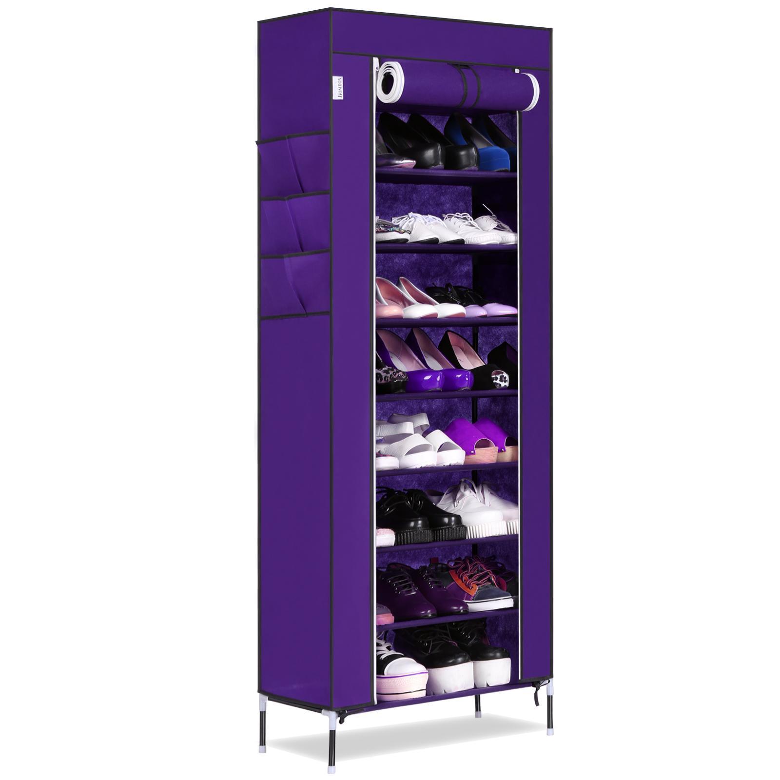 Oakeskaran Durable Home Use 10 Layer 9 Grids Large Capacity Shoe Cabinet Shoes Storage Racks Home Decorative Furniture