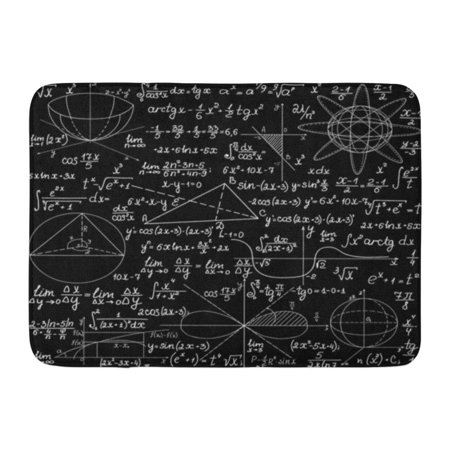YUSDECOR Mathematical with Handwritten Formulas Calculations and Geometrical Plots Education Endless You Any Color Rug Doormat Bath Mat 23.6x15.7 inch - image 1 of 1