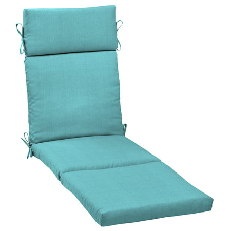 Chaise Lounge Cushion (Mainstays Solid Turquoise 72 x 21 in. Outdoor Chaise Lounge)