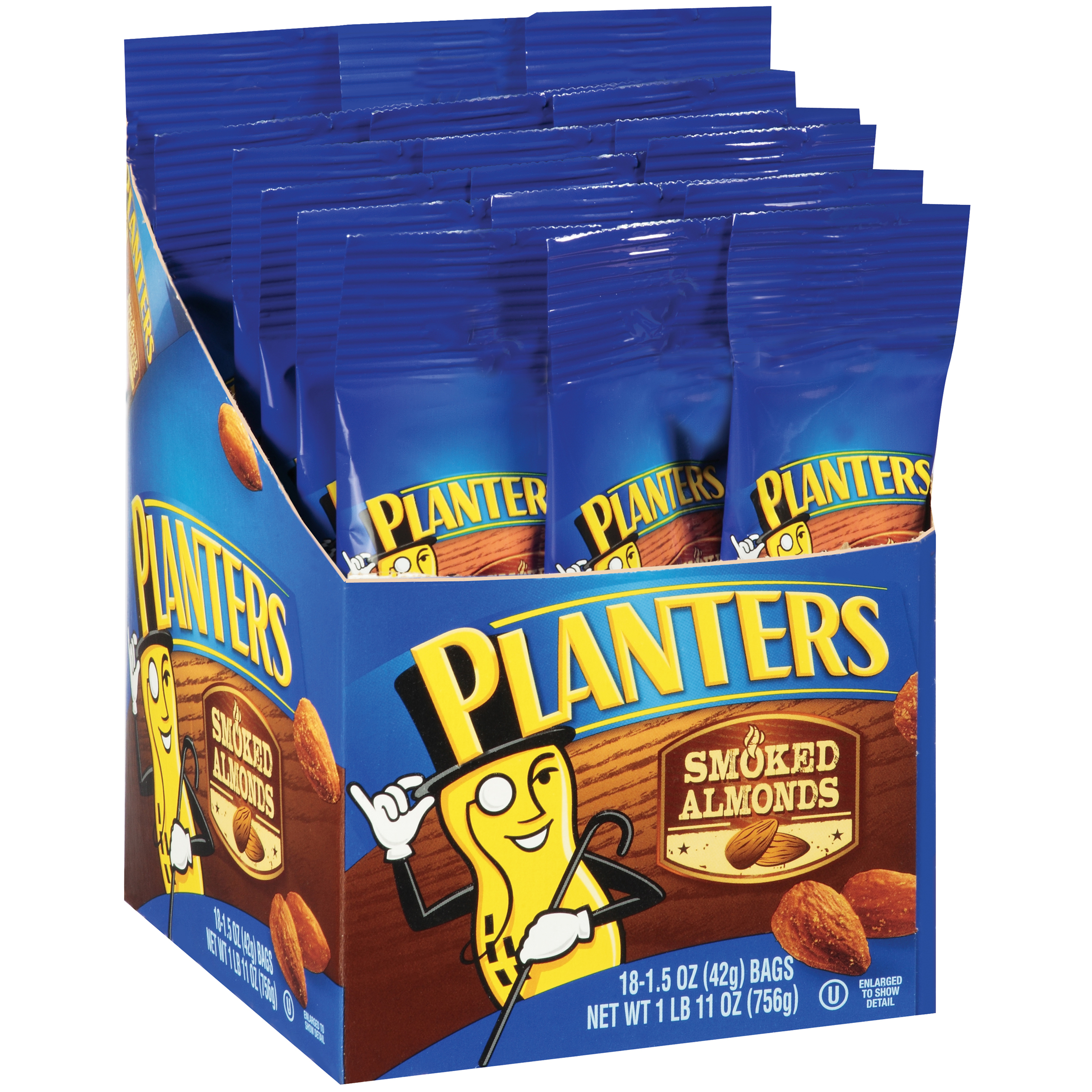 Planters Smoked Almonds 18-1.5 oz. Bags
