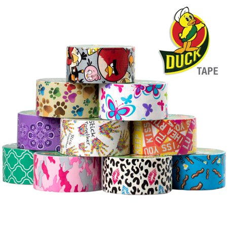 10 Rolls Printed Duck Brand Duct Tape Bulk Lot Patterns Arts Crafts Diy Patterns 60yds Bacon Pink
