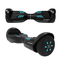Hover-1 Superstar UL Certified Electric Hoverboard w/ 6.5 Wheels, LED Lights, Bluetooth Speaker, and App Connectivity - Black