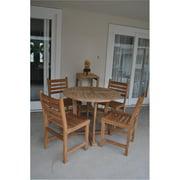 Anderson Teak Windham Wooden 5 Piece Patio Dining Set