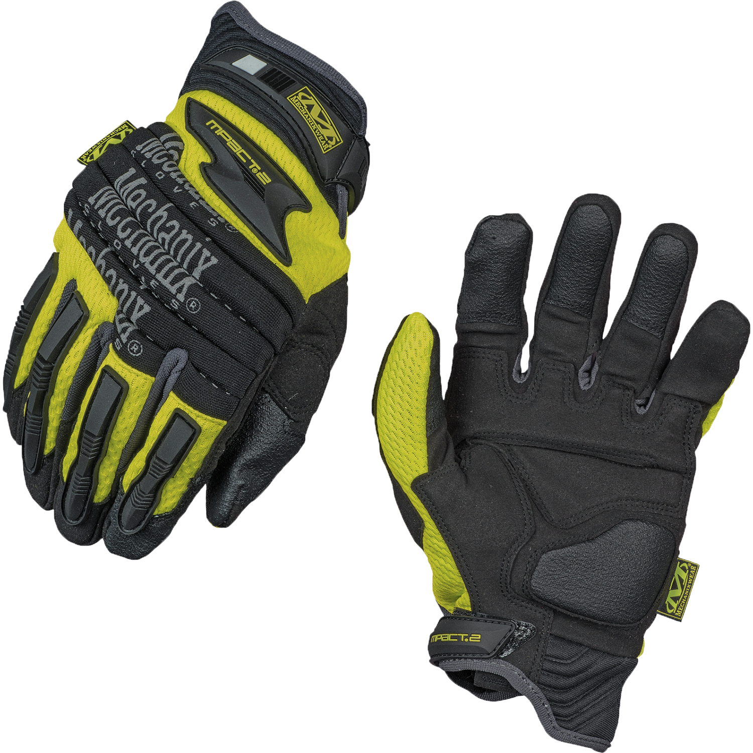 Mechanix Gloves Mpact-2 Hi Viz Lime Color Size Medium