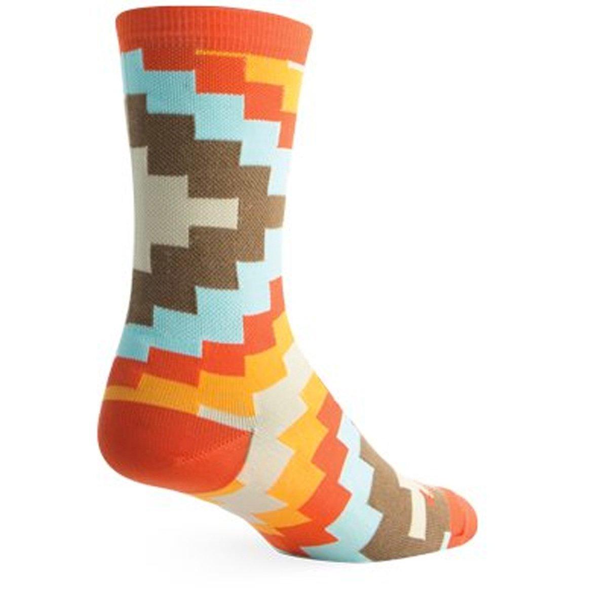 "Socks - SockGuy - Crew 6"" Aztec S/M Cycling/Running"