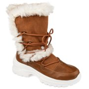 Brinley Co. Womens Lightweight Fashion Faux Fur Trim Winter Boots