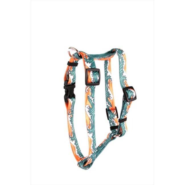 Yellow Dog Design H-MWO104XL Mystic Waves Orange Roman Harness - Extra Large