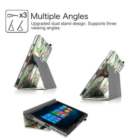 Microsoft Surface Pro 4 Case - Etui Fintie Folio avec support de stylet pour tablette Surface Pro 4 12,3 pouces, Love Tree - image 1 de 7