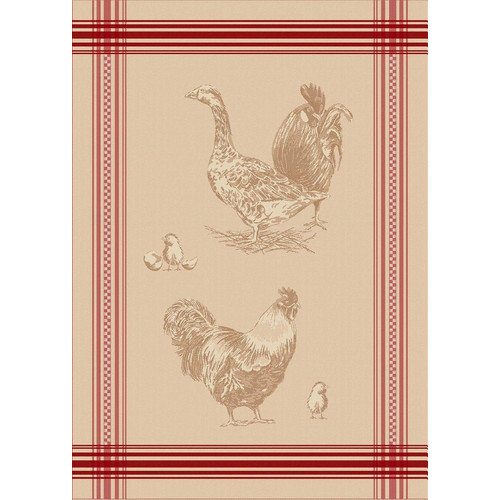 Mierco Rooster French Jacquard Tea Towel (Set of 2)