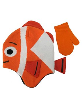 Disney finding Dory Nemo Hat and Mitten Set - Size 2-4 Years [4013]