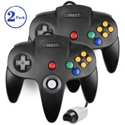 2Pack N64 Gaming Classic Controller, iNNEXT Retro N64 Wired Gaming Gamepad Controller Joystick for N64 System Home Video Game Console(Black)