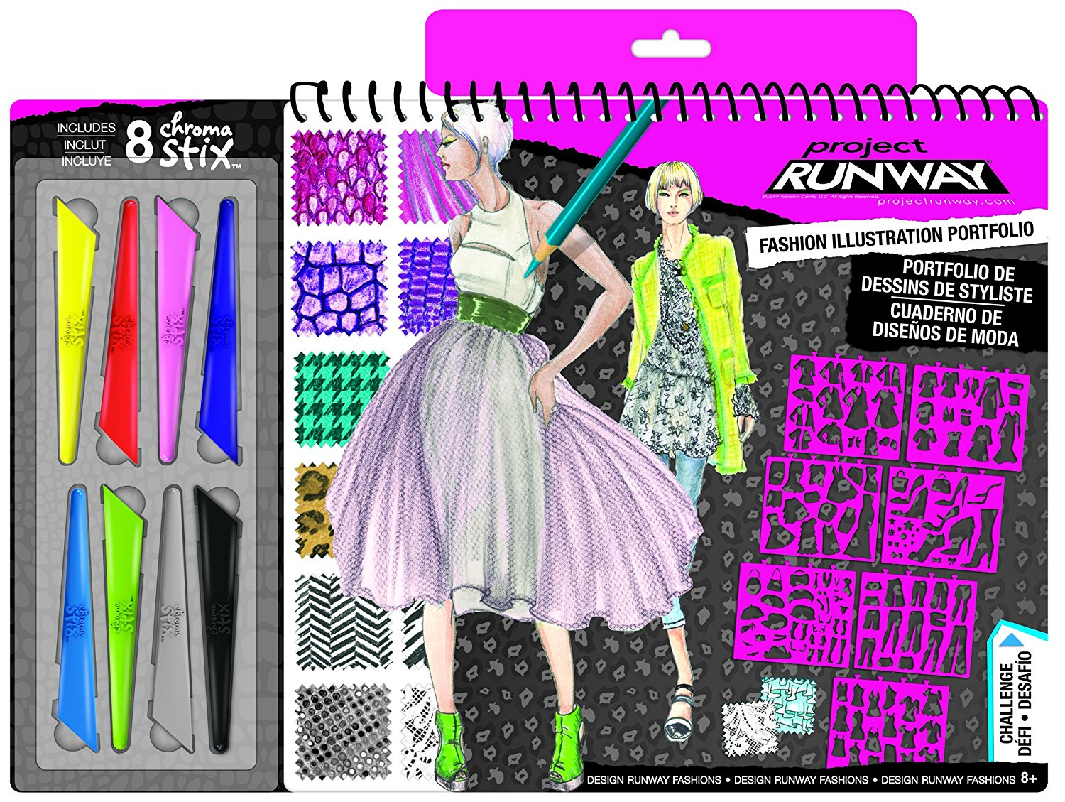 fashion angels interior design sketch portfolio paper