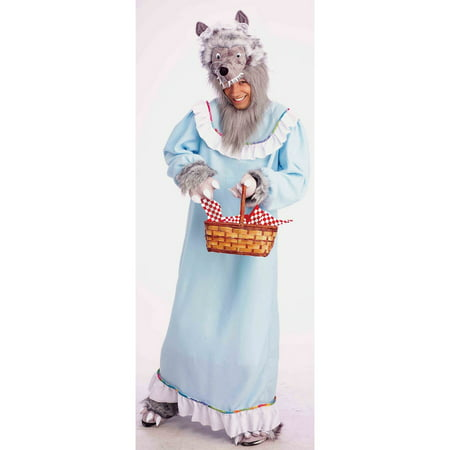 Adult Granny Wolf Halloween Costume (Big Bad Wolf Granny Costume)