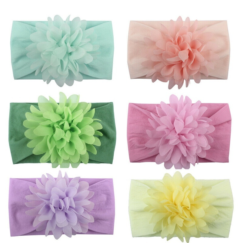 Girl Infant Flower Headband Hair Accessories Baby Hairband Lace Flower Bowknot