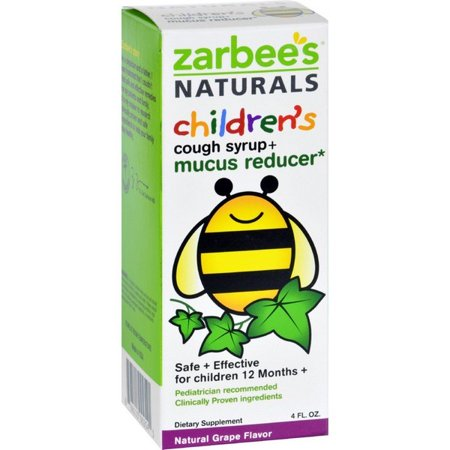Cough Relief Syrup - Zarbee's Naturals Children's Mucus Relief + Cough Syrup - Grape - 4 Oz