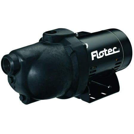 Flotec FP4032 Shallow Well Jet Pump, 1 hp, 1-1/4 in NPT Inlet, 1 in NPT Outlet, 230/115 V, 60 Hz, 9.6/19.2 A