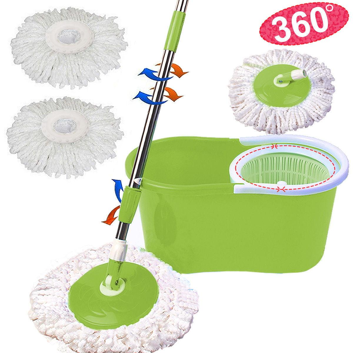 Zimtown Microfiber Spining Magic Mop W/Bucket 2 Heads Rotating 360 degree Easy Floor