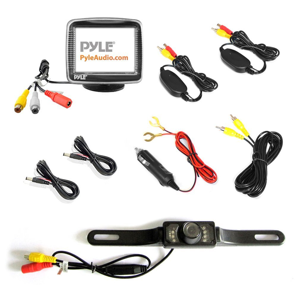 Pyle PLCM34WIR - Wireless Backup Car Camera Rearview Monitor System ...