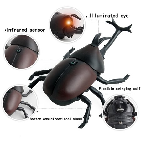 Infrared Remote Control Realistic Fake Beetle RC Prank Toy Insects Joke Scary Trick For Party Or Christmas&Halloween Gift