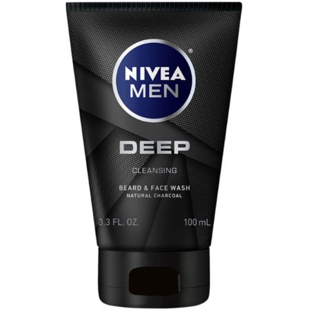 2 Pack - Nivea Men Deep Cleansing Beard And Face Wash  3.3 oz
