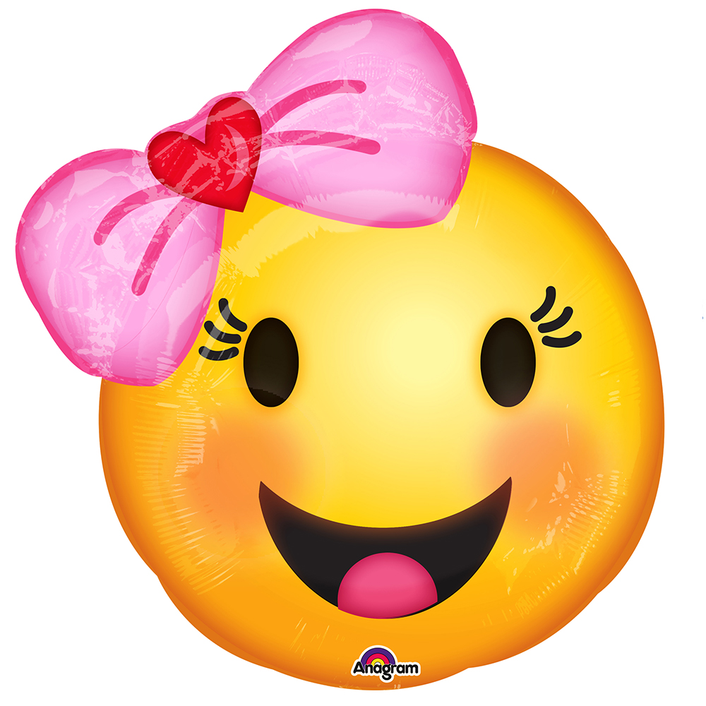 "Emoji With Bow 18"" Balloon"