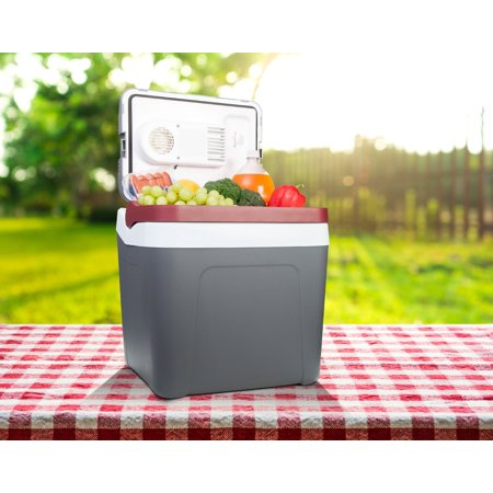 Best Cooler & 12v Electric Fridge. Ideal for Camping, Boating, Trucking, and Road Trips. Portable 26 Quarts (24 Litre) Capacity