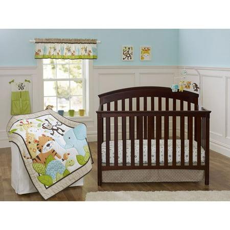 garanimals 3 piece comforter set neutral. Black Bedroom Furniture Sets. Home Design Ideas