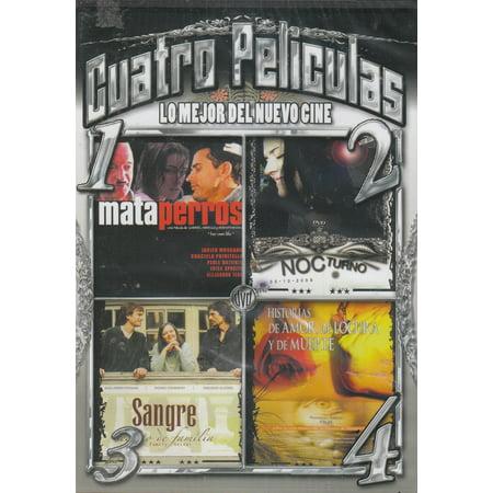 Cuatro Peliculas: Mata Perros / Nocturno / Sangre / Historias De Amor Locura Y Muerte](Halloween Pelicula De Terror)