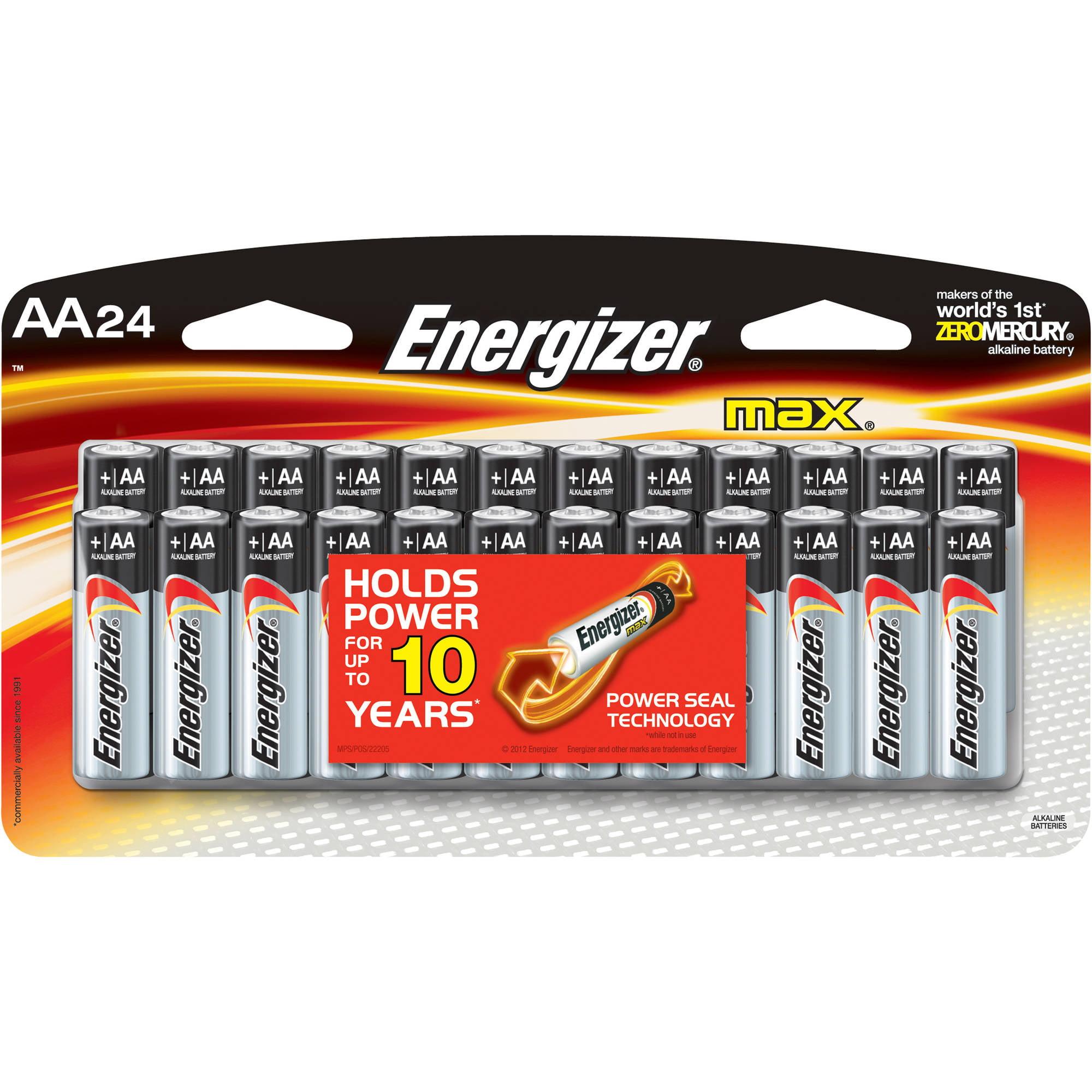 Energizer MAX AA Batteries, 24pk