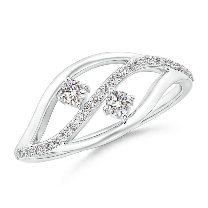 Angara Triple Shank Two Stone Diamond Wrap Ring xJSavE