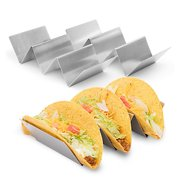 California Home Goods Stainless Taco Holders Stand, 2-Pack, 3 Tacos Each