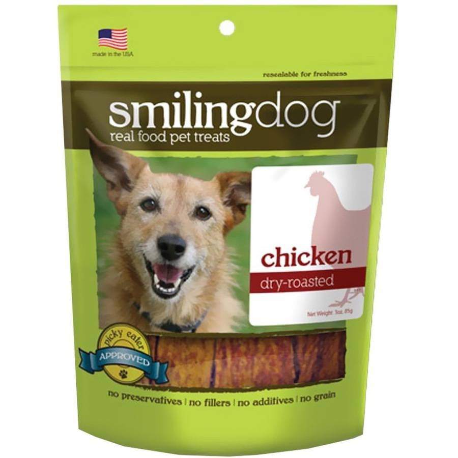 Herbsmith Smiling Dog Dry-Roasted Treats, Chicken